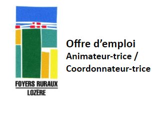 Offre d'emploi FDFR48 Animateur(trice) coordinateur(trice)